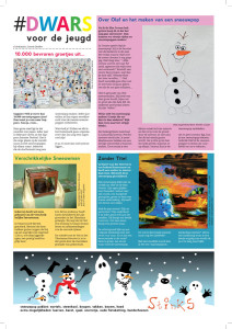 dwars 170 kinderpagina sneeuwpop