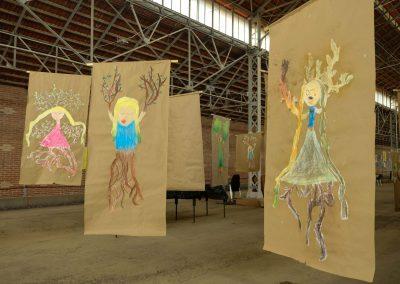 d'après Daphne, atelier des enfants, expo Montmarault