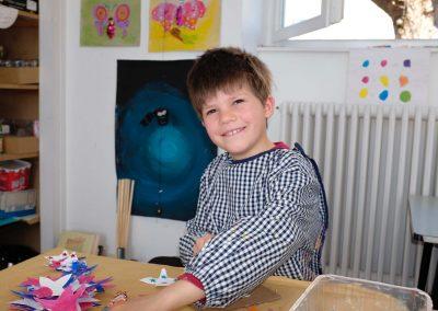 les préparations dans l'atelier des enfants