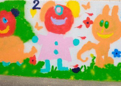 fresque murale école Montvicq