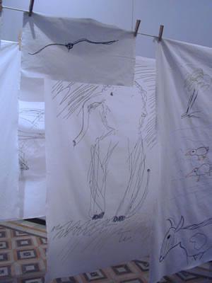 installation art embroidery - exposition - museum mac'n, monsummano terme
